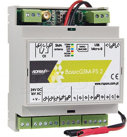 Moduł powiadomienia i sterowania GSM BasicGSM-PS 2 / BasicGSM-PS-D4M 2