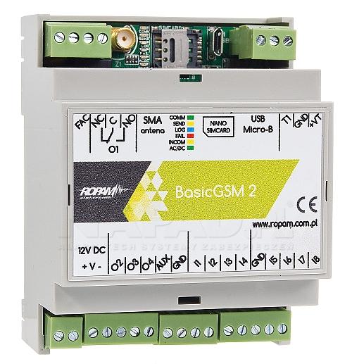moduł powiadom. i sterowania GSM BasicGSM-D4M 2
