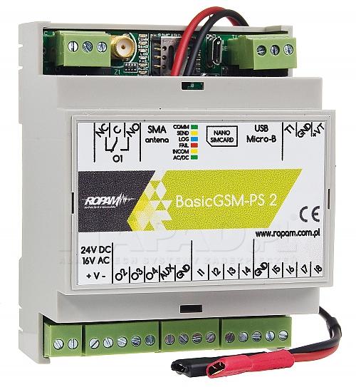 moduł powiadom. i sterowania GSM BasicGSM-PS-D4M 2