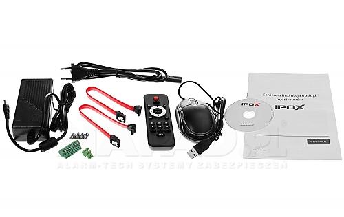 Firma IPOX w modelu PXHDR1642H zapewnia pełny zestaw akcesoriów