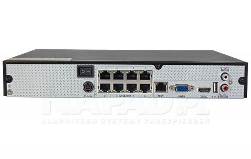 Rejestrator NVR z PoE PX-NVR0881H-P8
