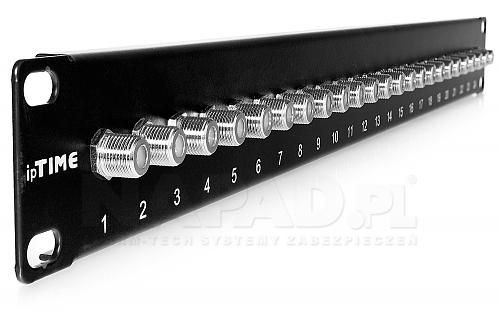 Patchpanel 24 porty typu F