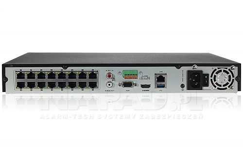 DS-7616NI-K2/16P - rejestrator z 16-portowym switchem PoE