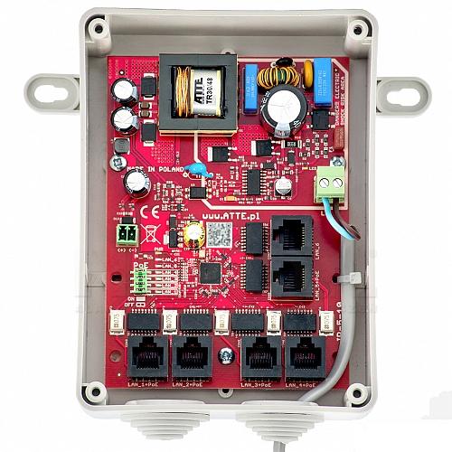 Switch 5-portowy ATTE PoE IPB-5-10-S4