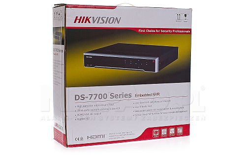 Opakowanie rejestratora Hikvision DS 7732NI-K4