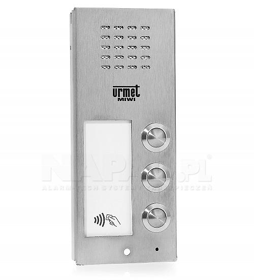 Płyta domofonowa z 3 przyciskami i czytnikiem RFID