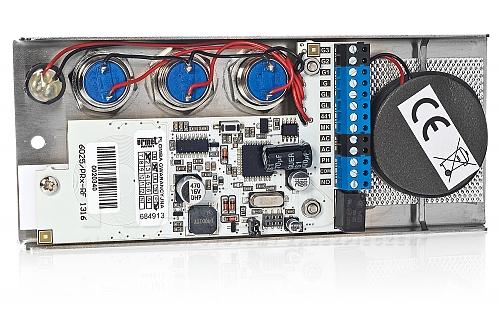 Elektronika panelu domofonu z 3 przyciskami
