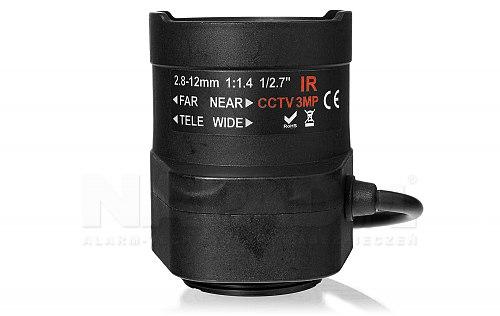 Obiektyw HD Auto Iris 2.8-12 mm z korekcją IR