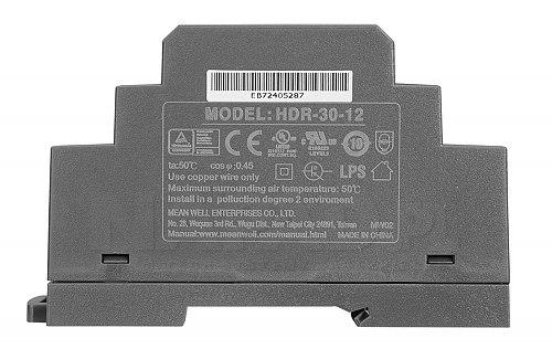 Zasilacz do montażu na szynie HDR 30 12