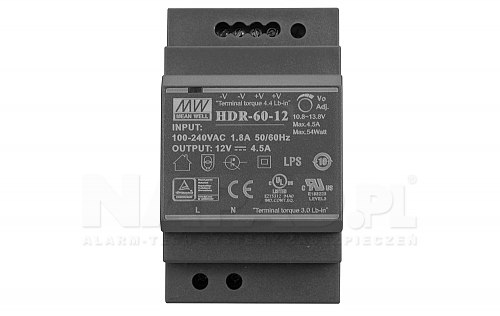 Zasilacz impulsowy HDR 60 12