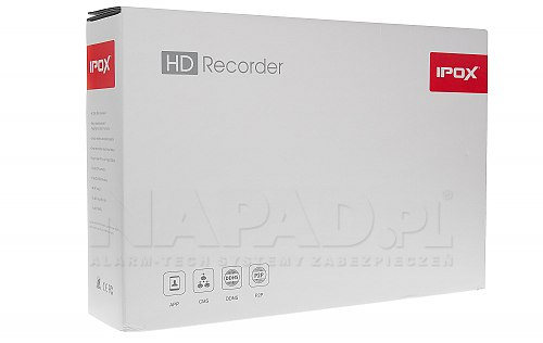 Opakowanie sieciowego rejestratora IPOX PXNVR1651H