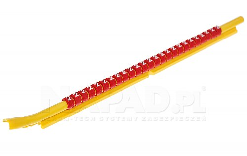 Zestaw oznaczników kabli 4.5-6mm Czarny