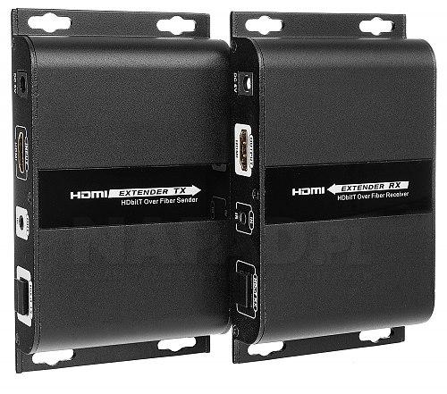 Konwerter HDMI na światłowód + IR
