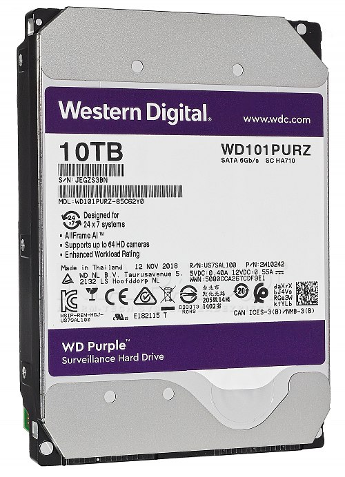 Dysk 10TB SATA III Western Digital Purple
