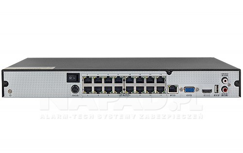 NVR1682H-16P + rejestrator ze switchem PoE
