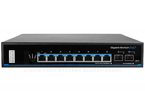 Switch PoE IPOX SW8G-SP80-U2G