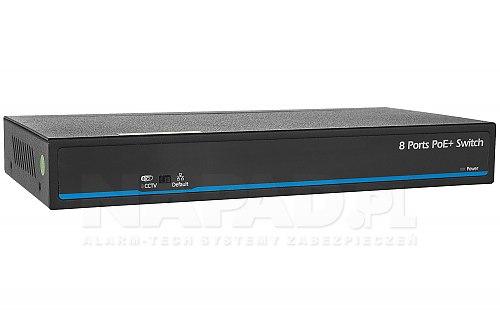 Przełącznik sieciowy PoE IPOX SW8-SP60-U1