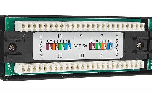 12 portowy patch panel do szafy teleinformatycznej 10 cali