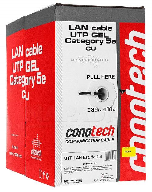 Kabel UTP 4x 2x0,51 5e PE+GEL