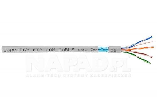 Przewód FTP ekranowany cat 5e Conotech