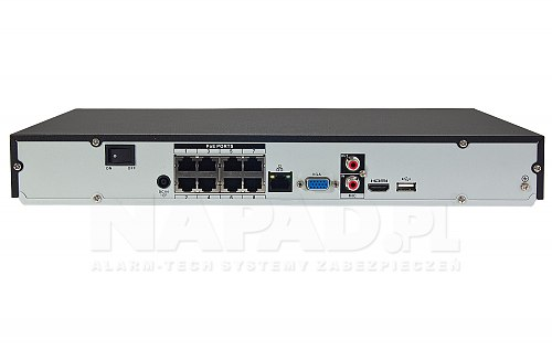 Rejestrator IP Dahua Lite NVR2208-8P-4KS2