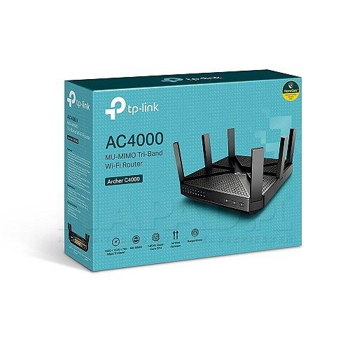 Trzypasmowy, gigabitowy router bezprzewodowy MU-MIMO AC4000
