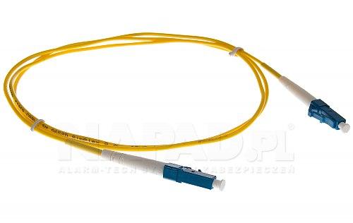Patchcord optyczny jednomodowy LC-LC 9/125 1m simplex