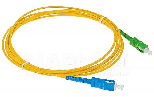 Patchcord optyczny jednomodowy SC-SC/APC 9/125 3m simplex