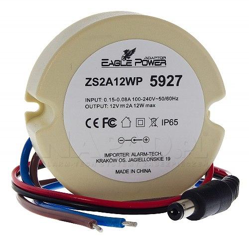 Zasilacz stabilizowany impulsowy ZS2A12WP 2A/12V