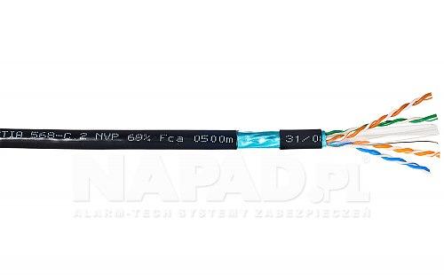 Przewód sieciowy F UTP Solarix SXKD 6 FTP PE