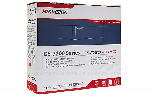 8-kanałowy rejestrator TVI / CVI / AHD / ANALOG / IP