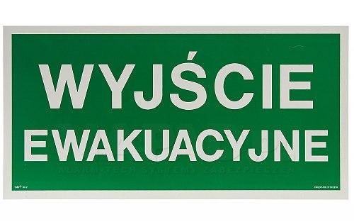 Znak AA 001 Wyjście ewakuacyjne