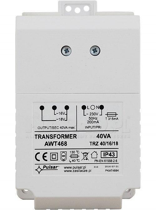 Transformator TRZ 40VA/16V/18V