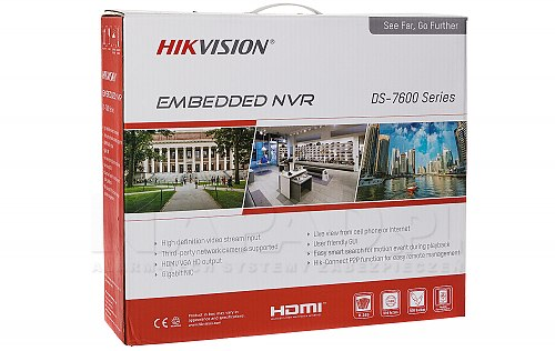 Nowoczesny rejestrator NVR Hikvision DS-7608NXI-I2/4S