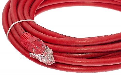 Patchcord czerwony kat.6