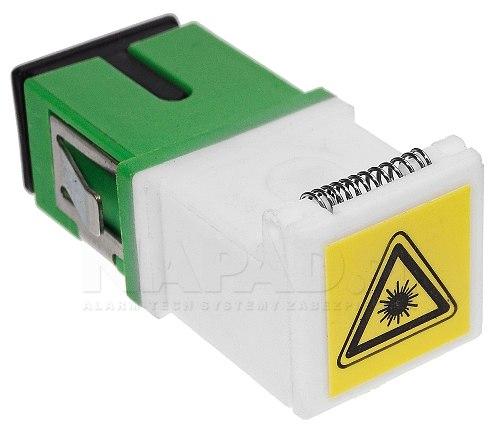 Adapter jednomodowy SC/APC simplex z klapką