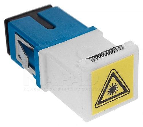 Adapter jednomodowy SC/UPC simplex z klapką