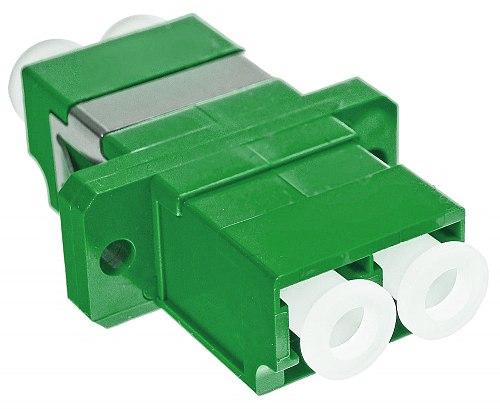 Adapter jednomodowy LC/APC duplex