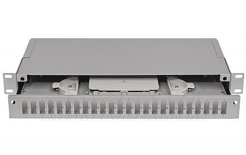 Przełącznica optyczna 24 portowa SC duplex jasnoszara