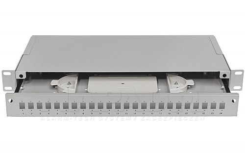 Przełącznica światłowodowa 24x SC simplex jasnoszara