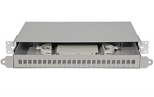 Przełącznica światłowodowa 24x SC simplex z prowadnicami