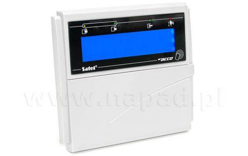 Manipulator LCD z czyt. kart zbliżeniowych ACCO-KLCDR-BW