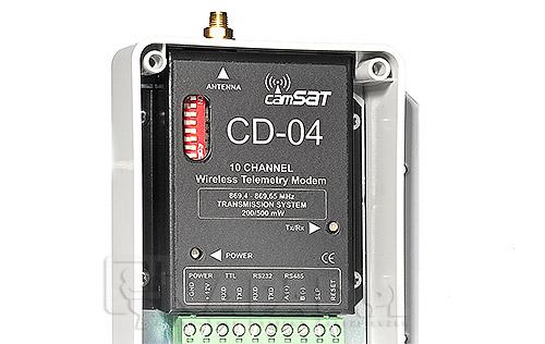 System bezprzewodowej obsługi kamer szybkoobrotowych (telemetria) nadajnik/odbiornik CD04