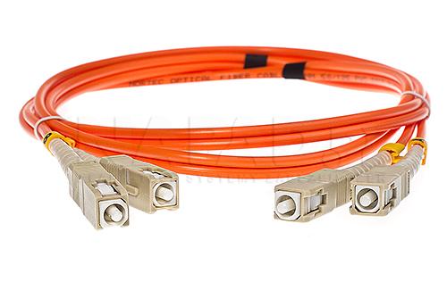 Patchcord optyczny wielomodowy SC-SC 50/125 1m duplex