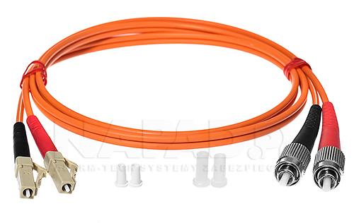 Patchcord optyczny wielomodowy FC-LC 50/125 1m duplex