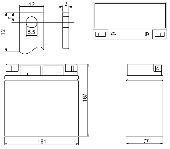 Wymiary akumulator żelowy 18ah 12v
