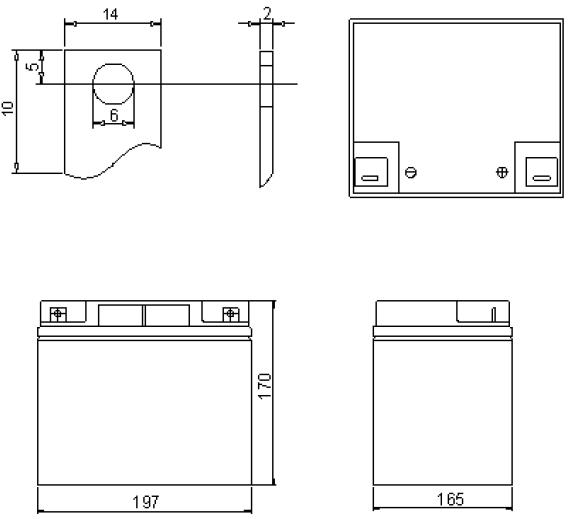 Wymiary akumulator żelowy 40Ah 12V