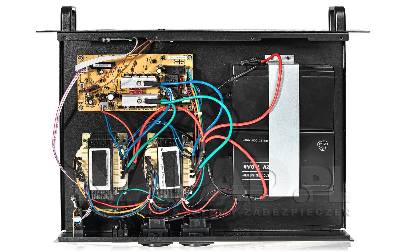Wnętrze zasilacza awaryjnego aT-UPS1200R