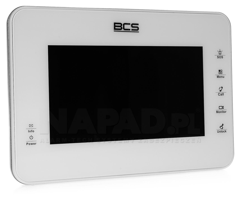 Monitor BCS-MON7000 w kolorze białym.