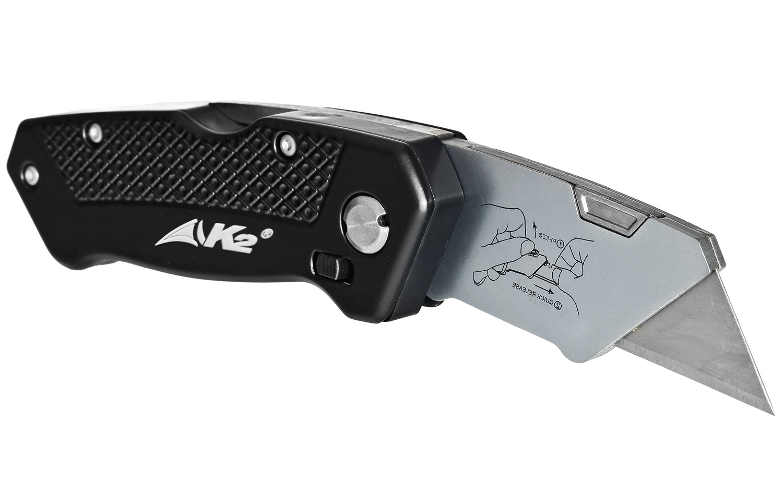 Nóż składany z ostrzem trapezowym K2